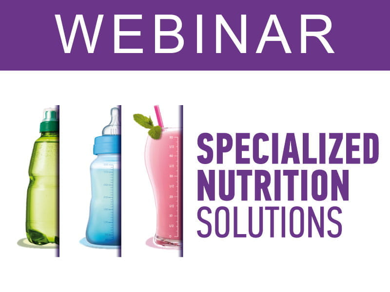 WEBINAR: Find out nutritional and ingredient lifecycle solutions and strategies
