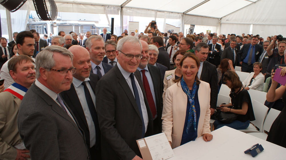 Roquette inaugurating the Rittershoffen deep geothermal power plant