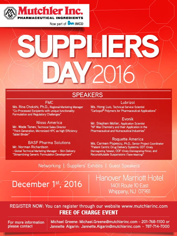 Suppliers day 2016